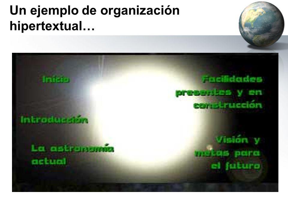 Un ejemplo de organización hipertextual…