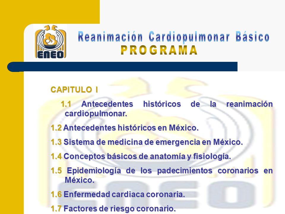 CAPITULO II 2.1 Reanimación cardiopulmonar básica en el adulto.
