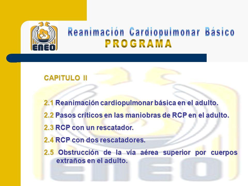 CAPITULO III 3.1 Reanimación cardiopulmonar básica en niños.