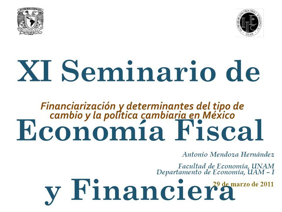 FINANCIARIZACIÓN Y DETERMINACIÓN DEL TIPO DE CAMBIO Y POLÍTICA CAMBIARIA EN MÉXICO