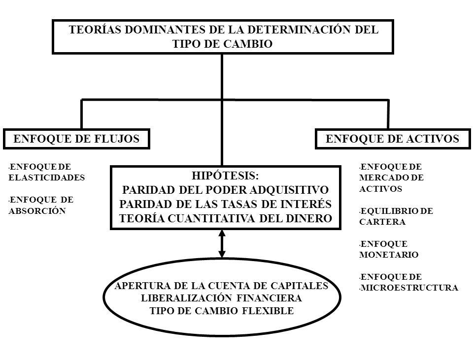 EL DILEMA DE LA ESTABILIDAD DEL TIPO DE CAMBIO TIPOS DE CAMBIO MÁS FLEXIBLES TIPOS DE CAMBIO MÁS FIJOS INESTABILIDAD VOLATILIDAD CRISIS CAMBIARIAS (CONTAGIO) EN LA ACTUALIDAD LA TEORÍA DOMINANTE ORIENTA LA MAYORÍA DE SUS ESTUDIOS A LAS VARIACIONES Y SENSIBILIDAD DEL TIPO DE CAMBIO.