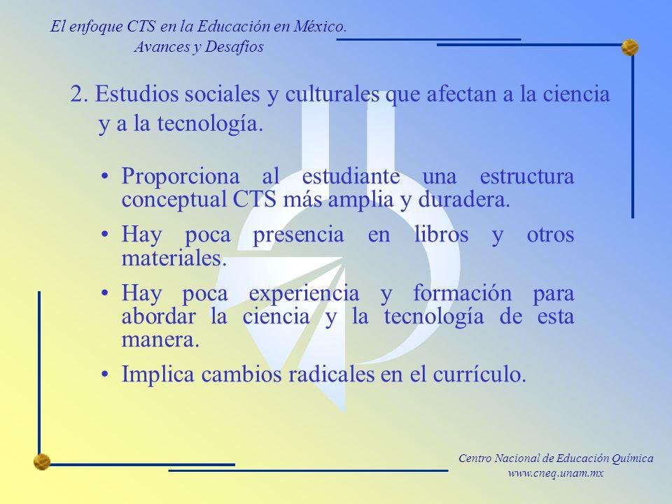 Centro Nacional de Educación Química www.cneq.unam.mx 2.