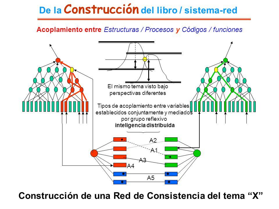El mismo tema visto bajo perspectivas diferentes Construcción de una Red de Consistencia del tema X A1 A2 A3 A4 A5 Tipos de acoplamiento entre variabl