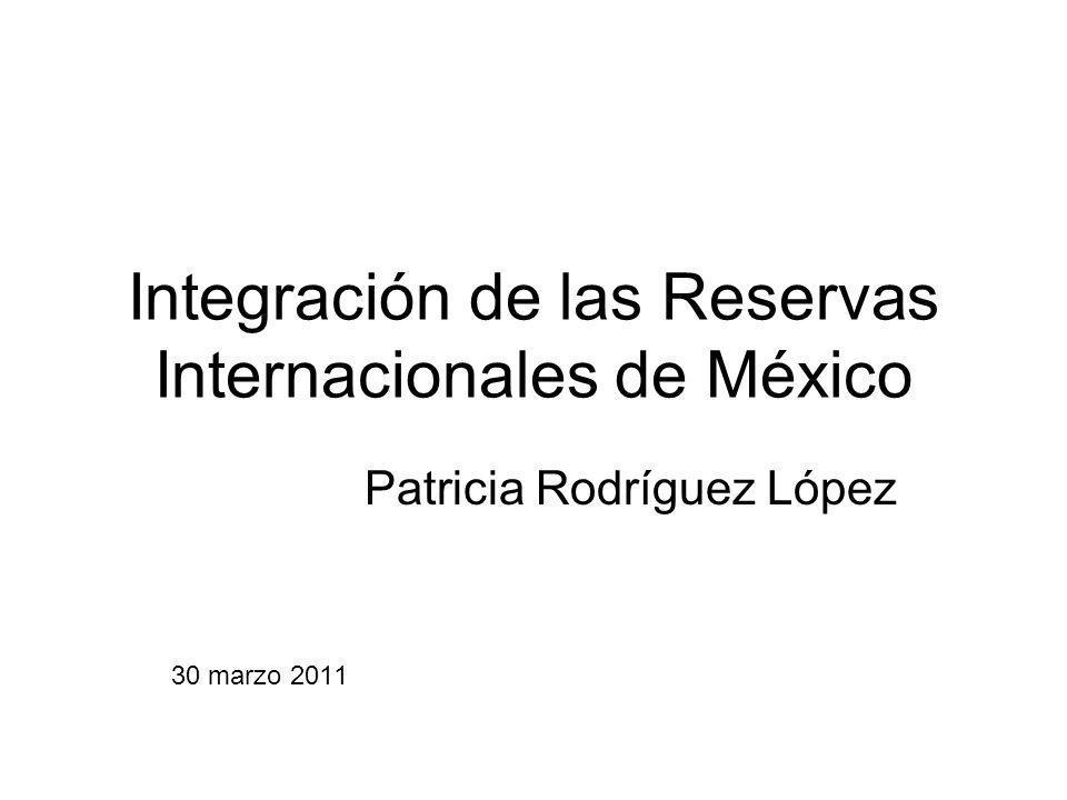 Integración de las Reservas Internacionales de México Patricia Rodríguez López 30 marzo 2011