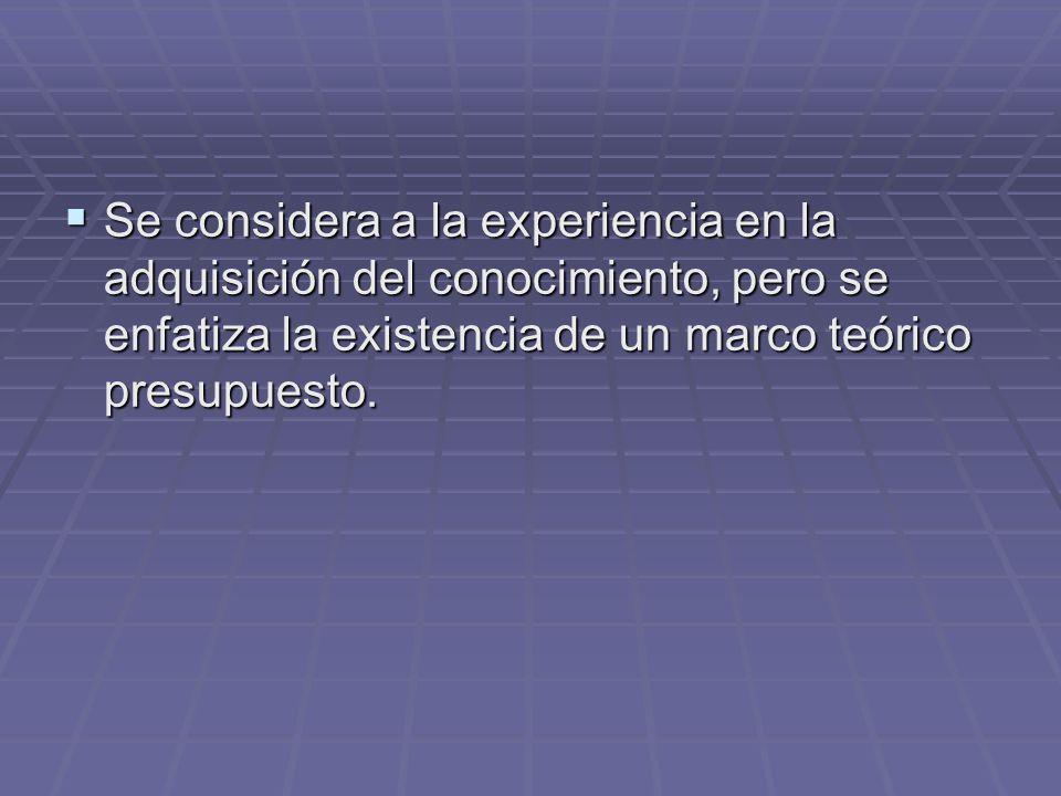 Concepción de la ciencia Hay un criterio general de demarcación que permite identificar lo que cuenta como ciencia.