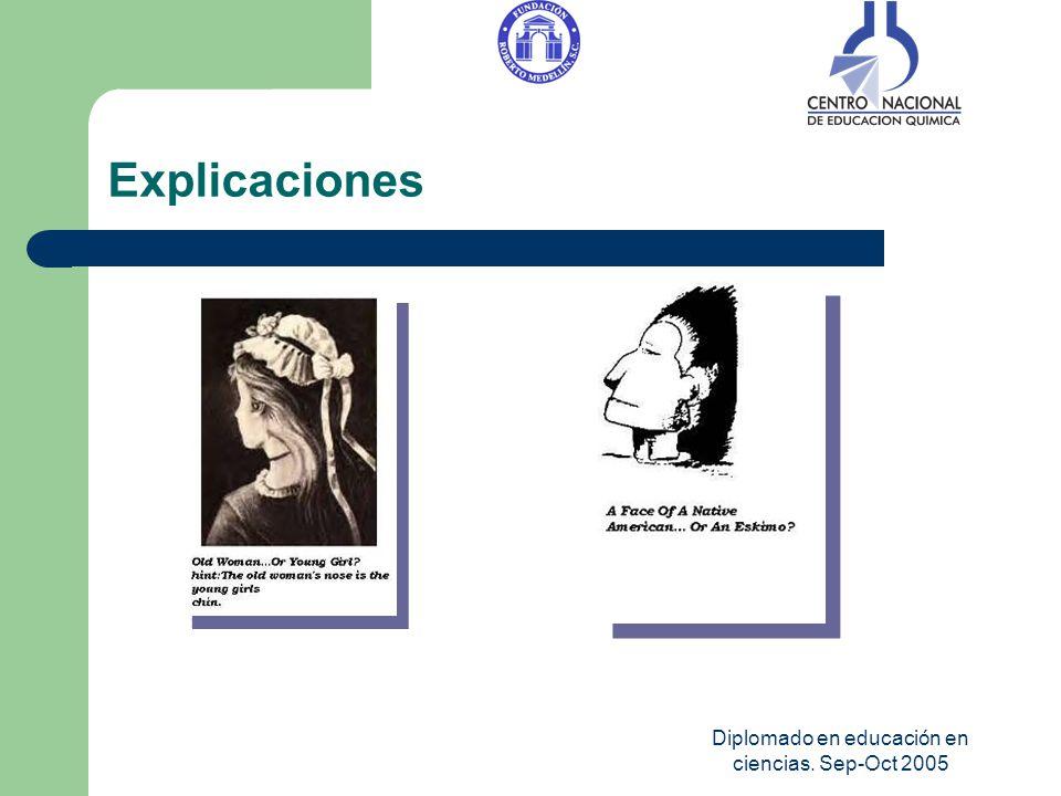 Diplomado en educación en ciencias. Sep-Oct 2005 Explicaciones