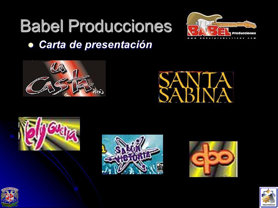 Babel Producciones Carta de presentación Carta de presentación