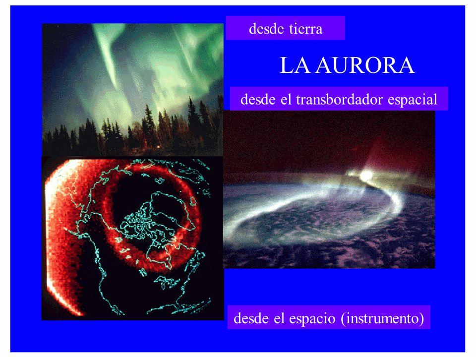 LA AURORA desde tierra desde el transbordador espacial desde el espacio (instrumento)