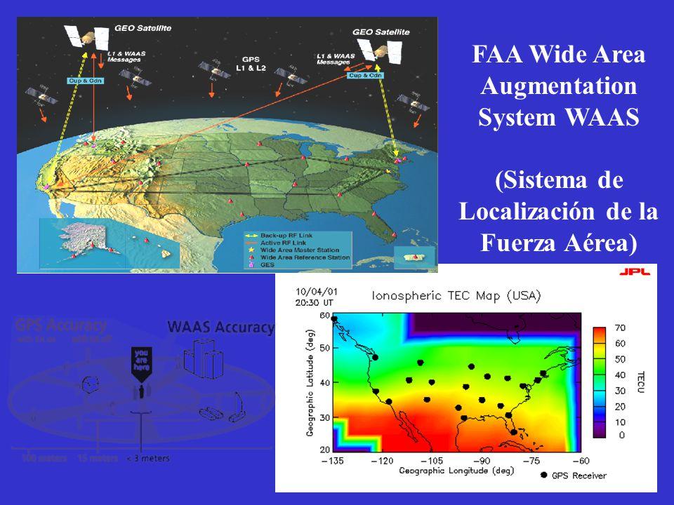 FAA Wide Area Augmentation System WAAS (Sistema de Localización de la Fuerza Aérea)
