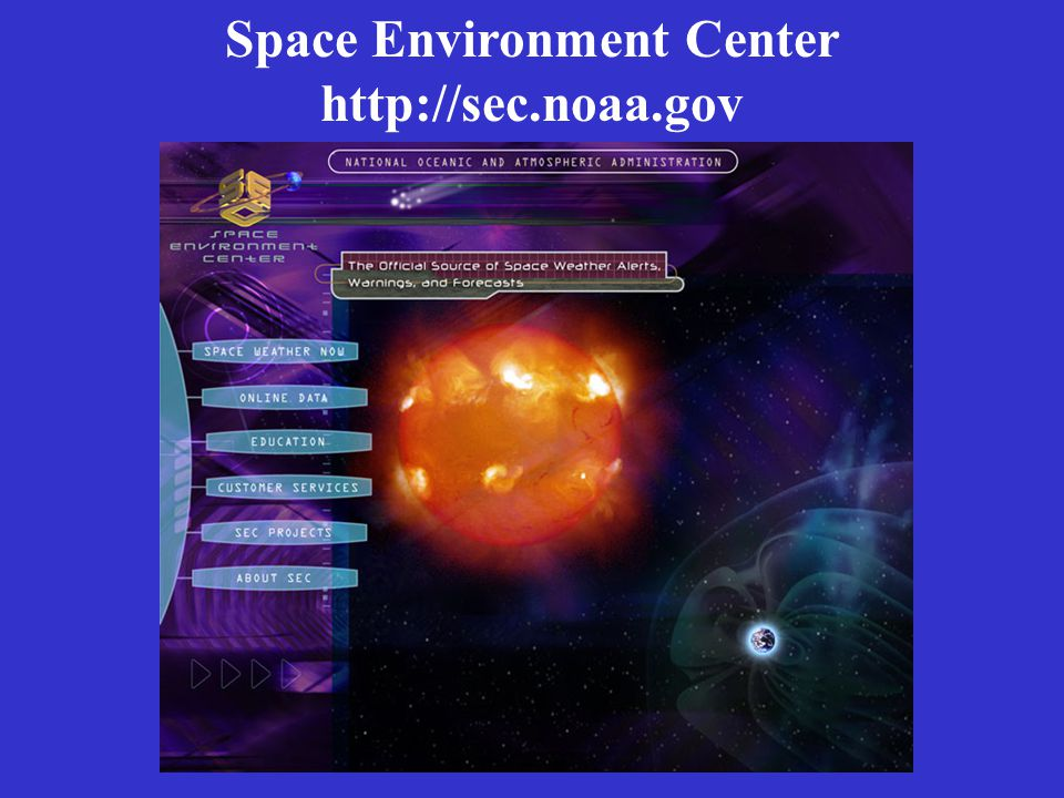 Space Environment Center http://sec.noaa.gov