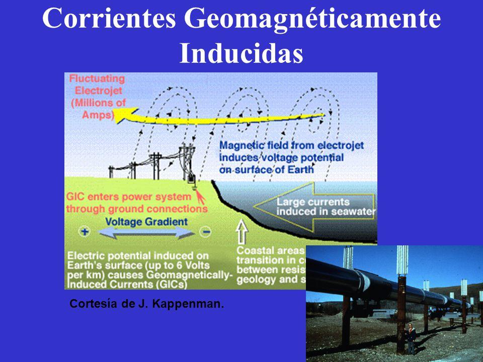 Corrientes Geomagnéticamente Inducidas Cortesía de J. Kappenman.