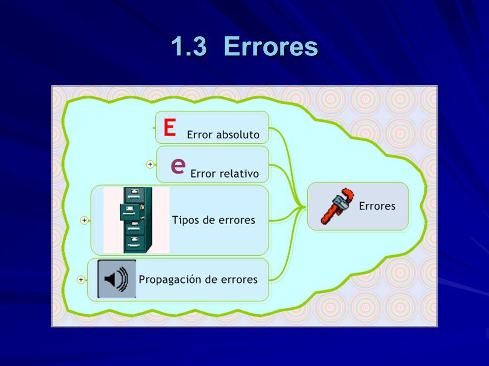 1.3.4.1 Redondeo truncado Al considerar únicamente t cifras significativas, se están despreciando (m-t) cifras del resultado, es decir, se está redondeando el resultado.