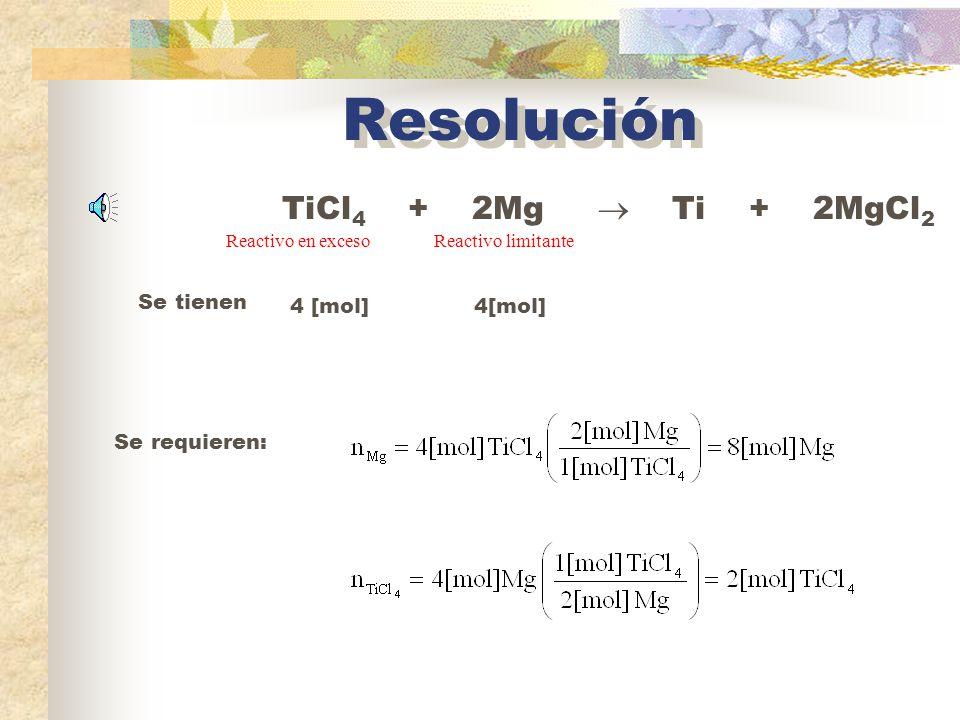 La cantidad de reactivo limitante presente al inicio de una reacción determina el rendimiento teórico de la reacción, es decir, la cantidad de producto que se obtendrá si reacciona todo el reactivo limitante.