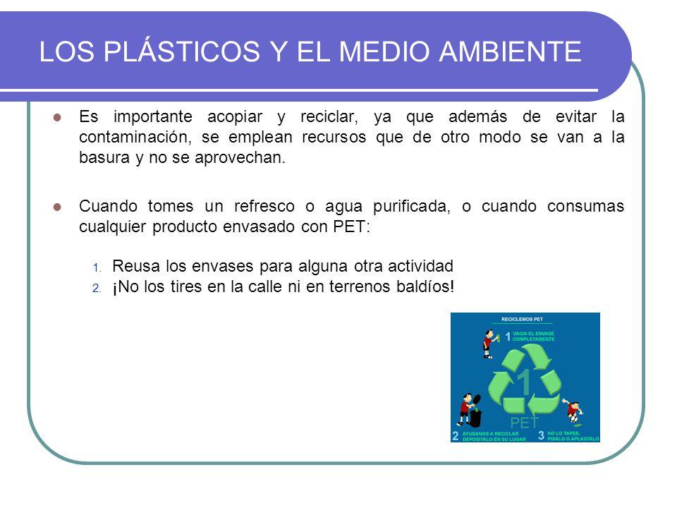 Es importante acopiar y reciclar, ya que además de evitar la contaminación, se emplean recursos que de otro modo se van a la basura y no se aprovechan