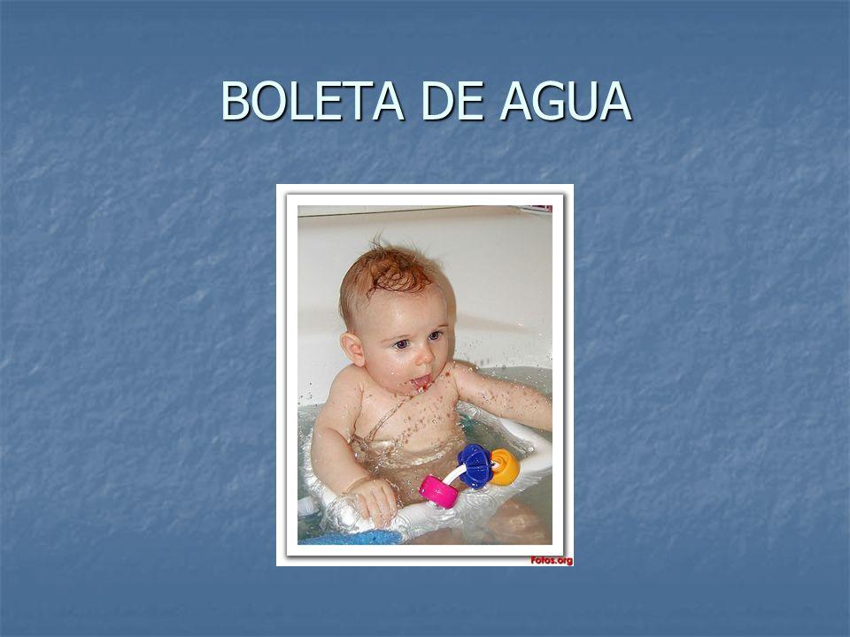 BOLETA DE AGUA