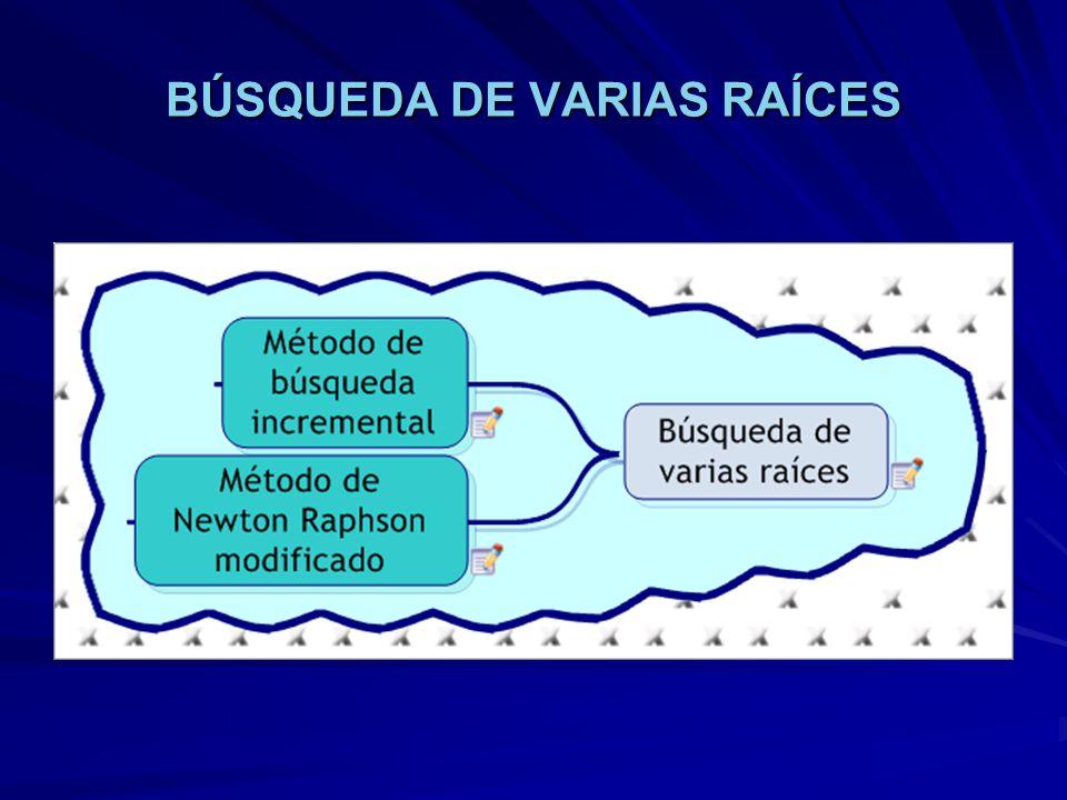 BÚSQUEDA DE VARIAS RAÍCES