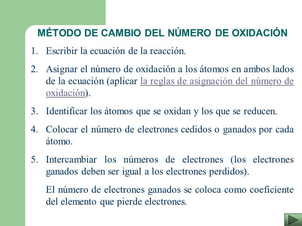 En cambio en el segundo (el químico), existen dos posibilidades de ajustar una ecuación ya sea por el método de óxido-reducción (utilizando medias rea