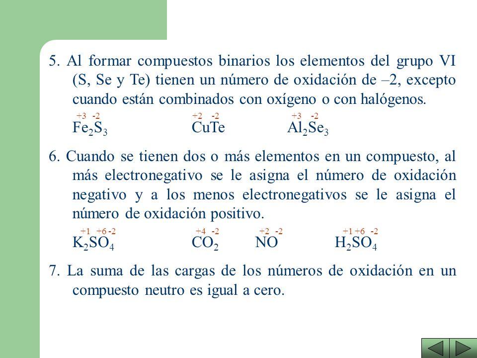 3. Los elementos del segundo grupo de la tabla periódica cuando están formando compuestos, se les asigna el número de oxidación +2. CaSBaCl 2 Sr(NO 3