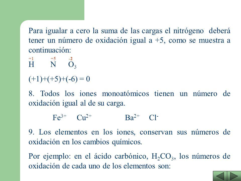 Existen elementos que pueden tener varios números de oxidación (dependiendo del compuesto en el que se encuentren). Ejemplo: HNO 3 En el ejemplo propu