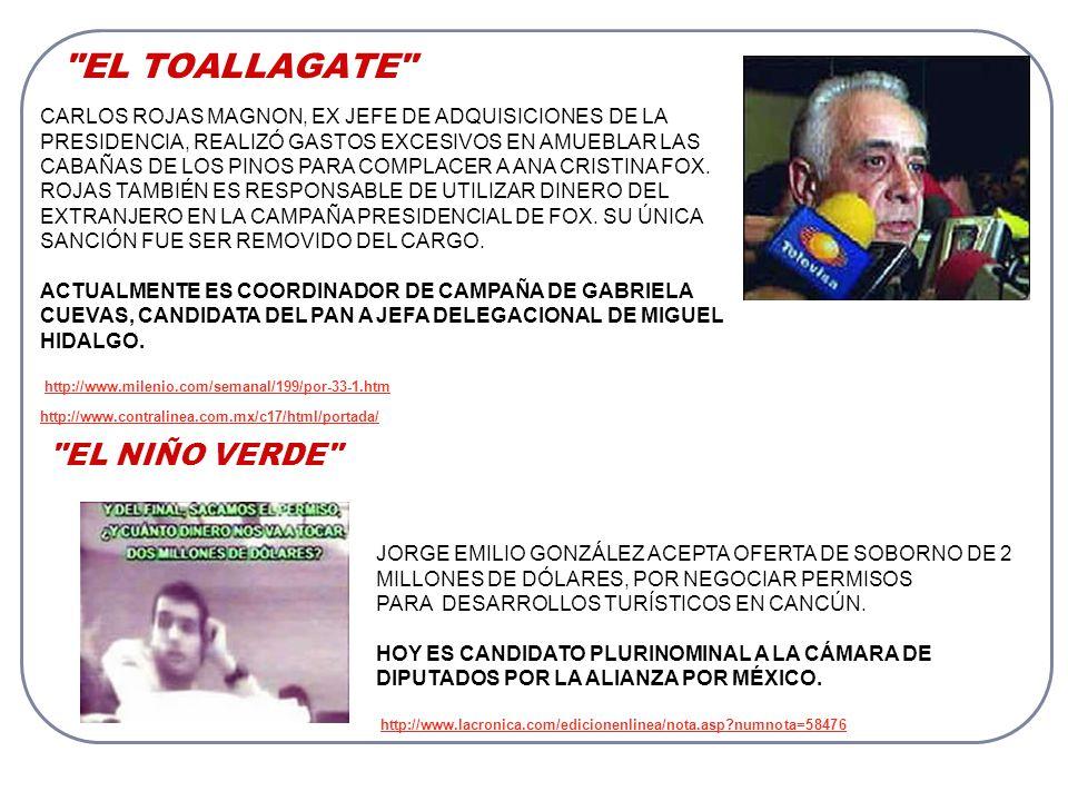 LOS HIJOS DE MARTHA SAHAGÚN JORGE Y MANUEL BRIBIESCA SON DENUNCIADOS ANTE LA PGR POR TRÁFICO DE INFLUENCIAS, POR FRAUDE, POR BENEFICIARSE DE CRÉDITOS MILLONARIOS, ASÍ COMO POR TRÁFICO ILEGAL DE MERCANCÍAS.