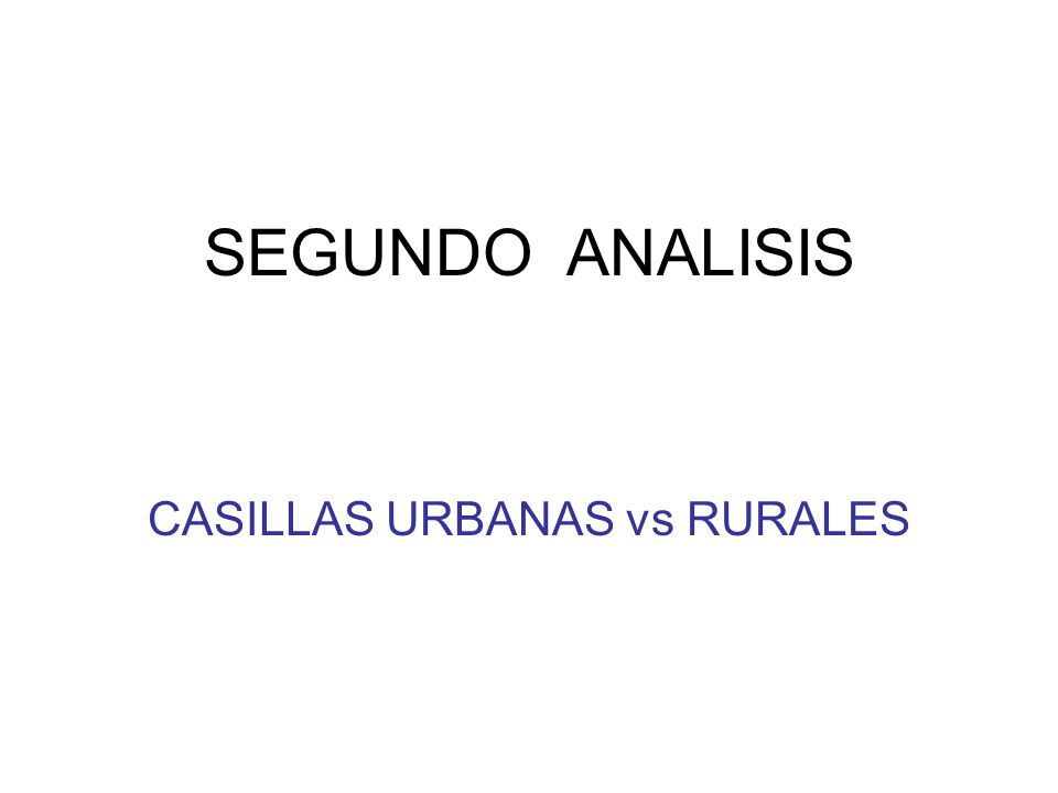 SEGUNDO ANALISIS CASILLAS URBANAS vs RURALES