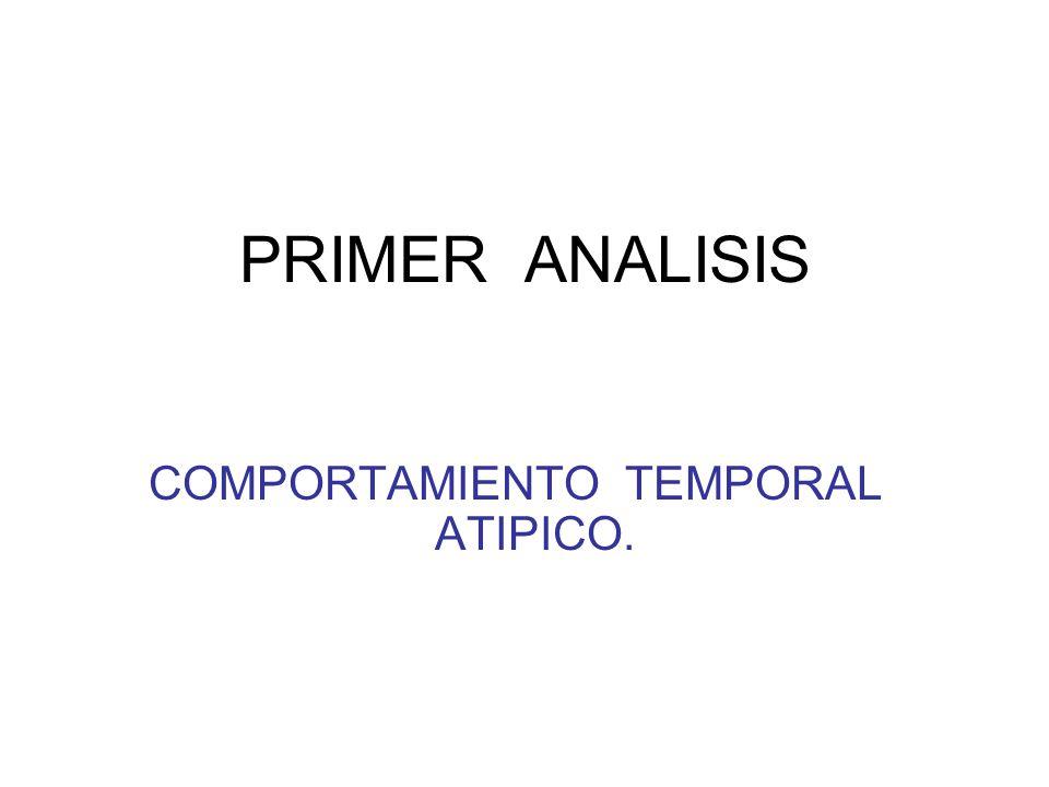 PRIMER ANALISIS COMPORTAMIENTO TEMPORAL ATIPICO.