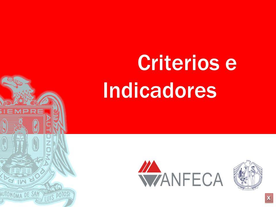 XXXX XXXX Criterios e Indicadores