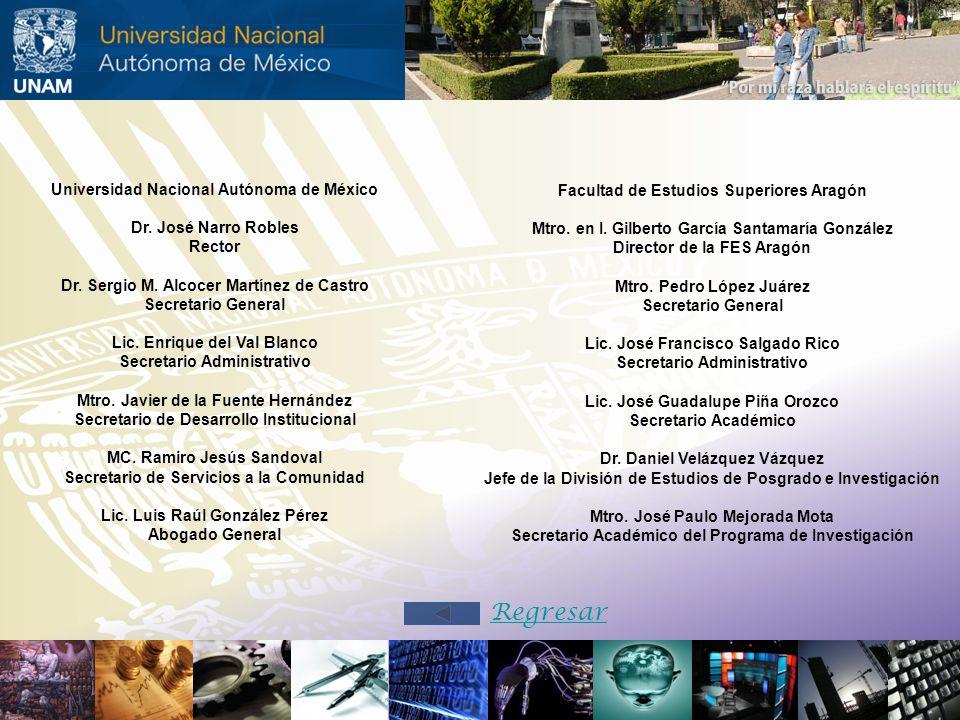 Universidad Nacional Autónoma de México Dr. José Narro Robles Rector Dr. Sergio M. Alcocer Martínez de Castro Secretario General Lic. Enrique del Val