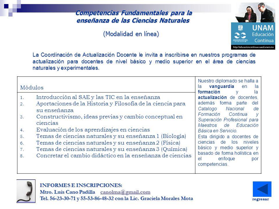 Competencias Fundamentales para la enseñanza de las Ciencias Naturales Competencias Fundamentales para la enseñanza de las Ciencias Naturales INFORMES