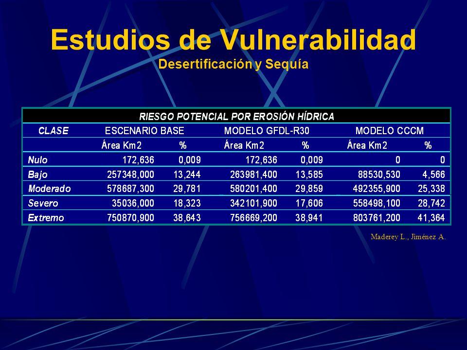 Estudios de Vulnerabilidad Desertificación y Sequía Maderey L., Jiménez A.