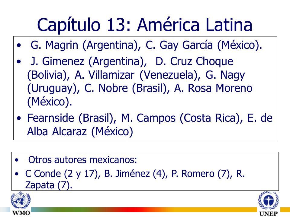 Capítulo 13: América Latina G. Magrin (Argentina), C.