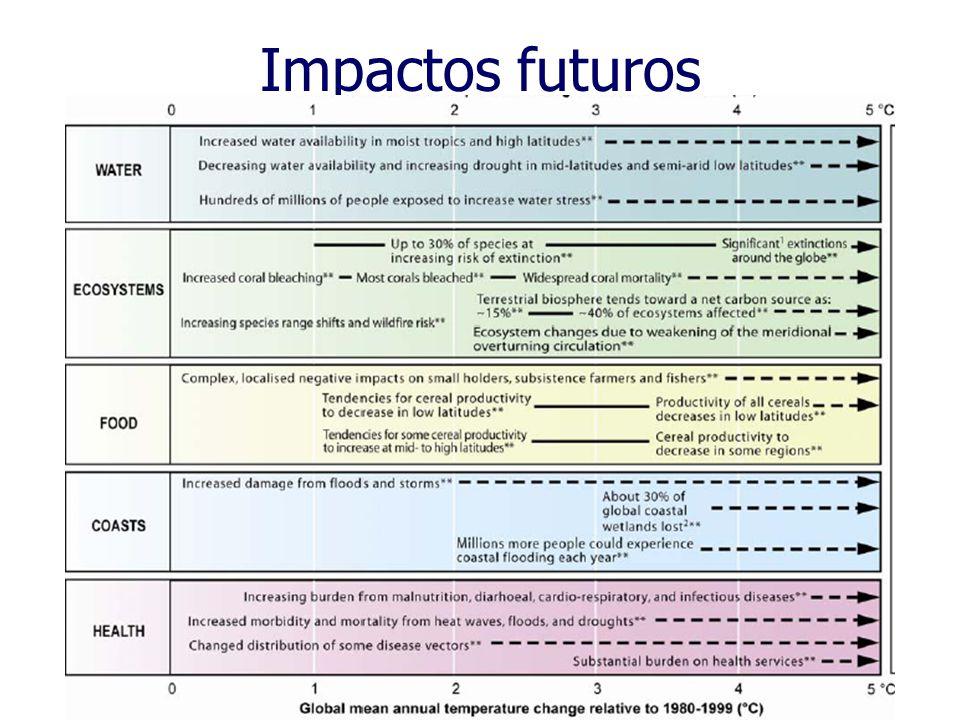 Impactos futuros