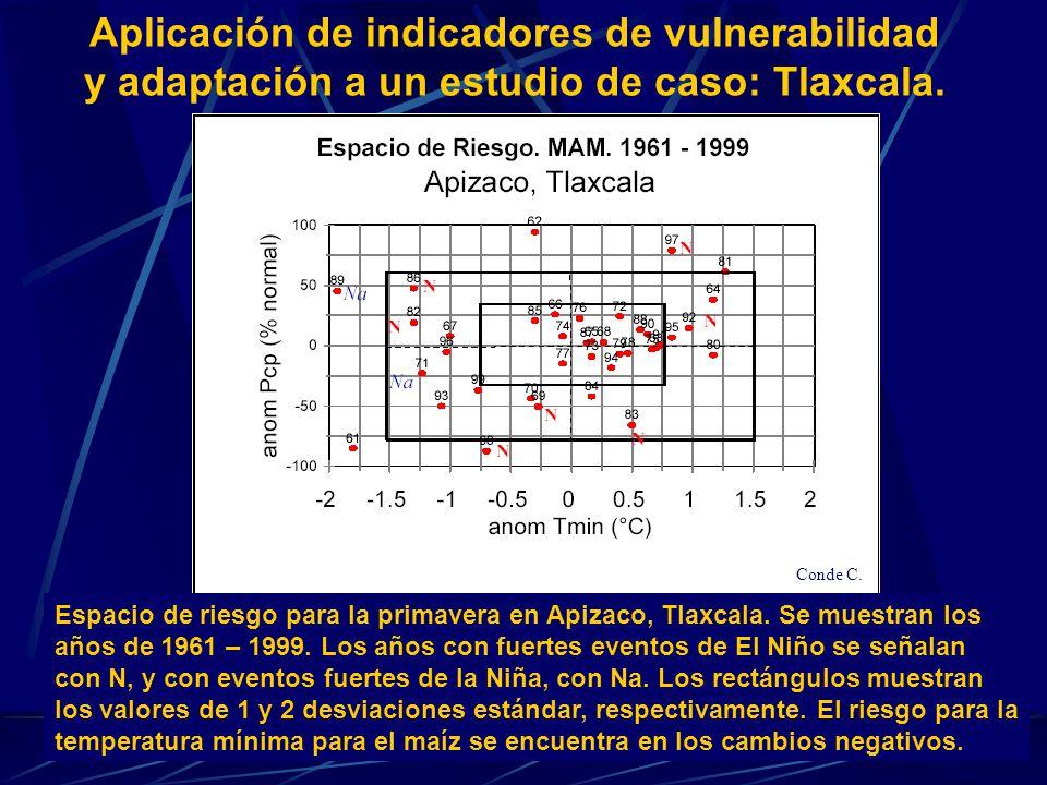 Aplicación de indicadores de vulnerabilidad y adaptación a un estudio de caso: Tlaxcala. Espacio de riesgo para la primavera en Apizaco, Tlaxcala. Se