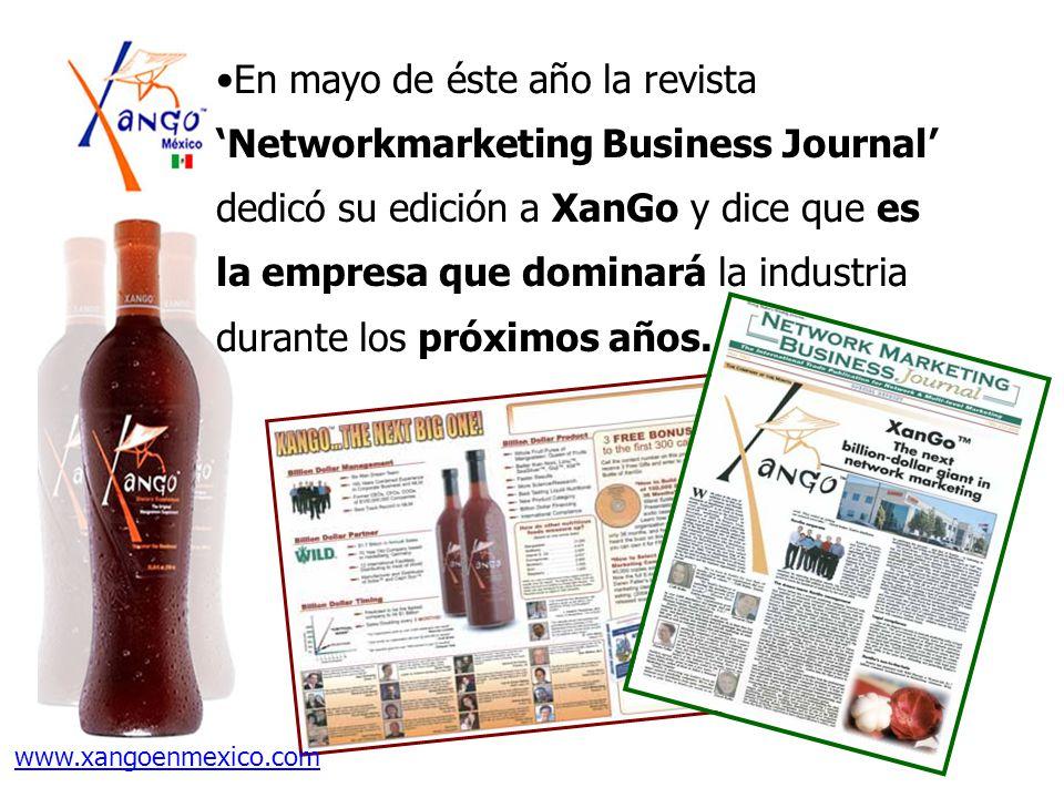 En mayo de éste año la revista Networkmarketing Business Journal dedicó su edición a XanGo y dice que es la empresa que dominará la industria durante