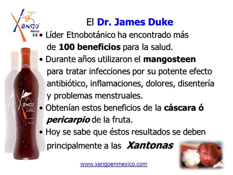 El Dr. James Duke El Dr. James Duke Líder Etnobotánico ha encontrado más Líder Etnobotánico ha encontrado más de 100 beneficios para la salud. de 100