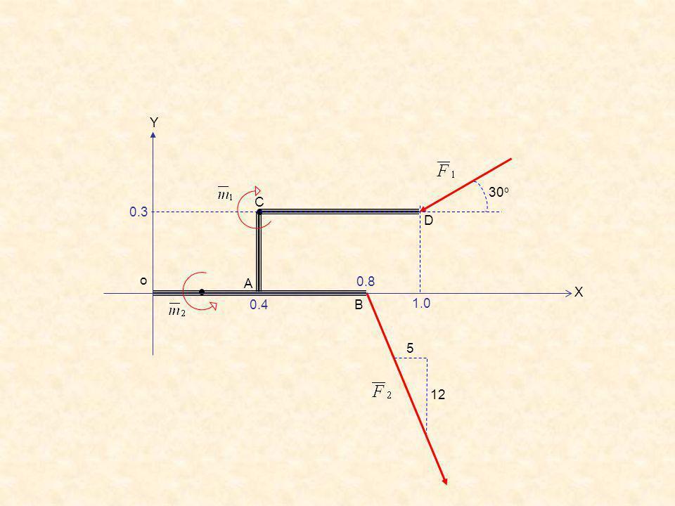 D C B A 12 5 30 o o Y X 1.0 0.3 0.4 0.8