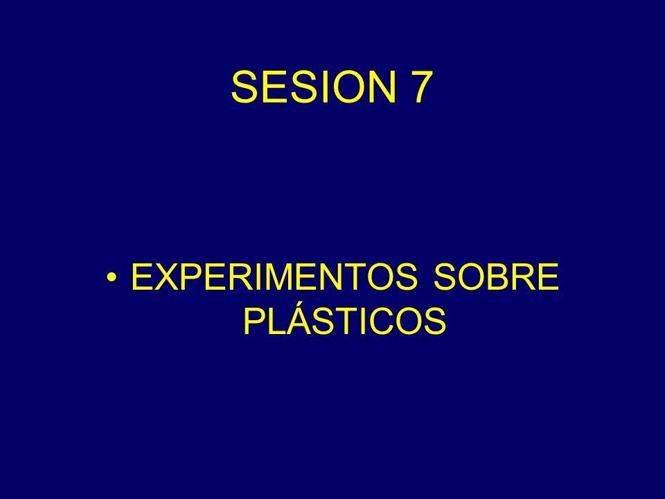 SESION 7 EXPERIMENTOS SOBRE PLÁSTICOS