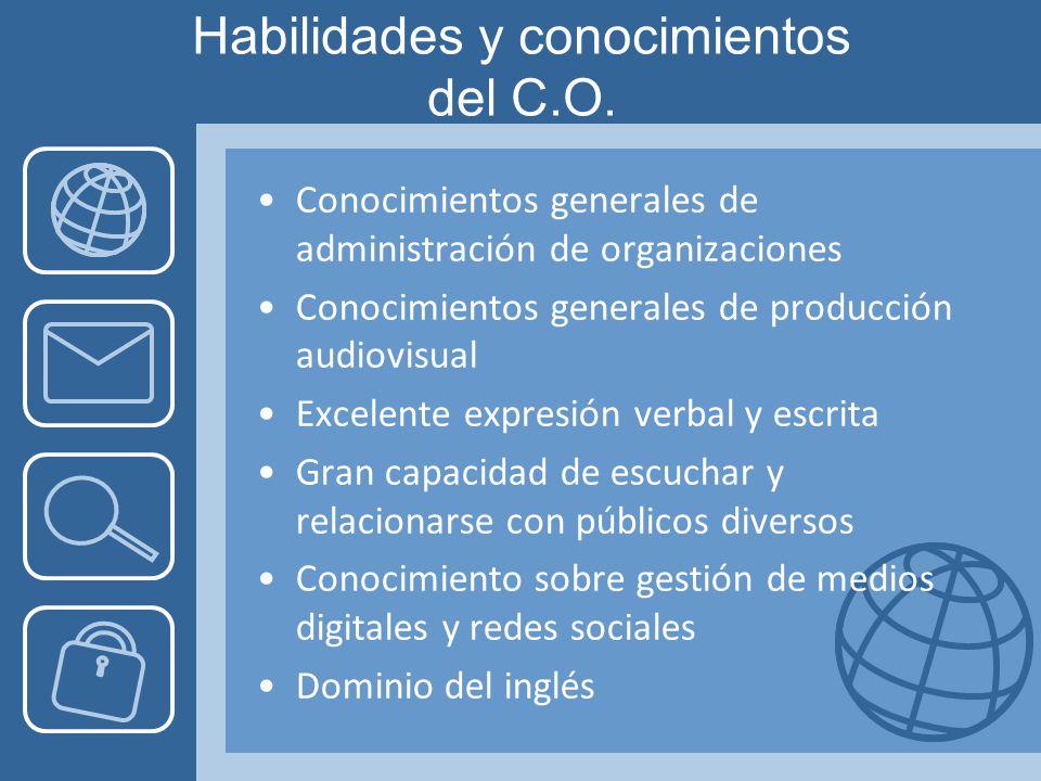 Habilidades y conocimientos del C.O.