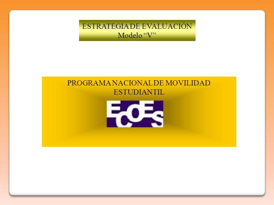 ESTRATEGIA DE EVALUACIÓN Modelo V PROGRAMA NACIONAL DE MOVILIDAD ESTUDIANTIL