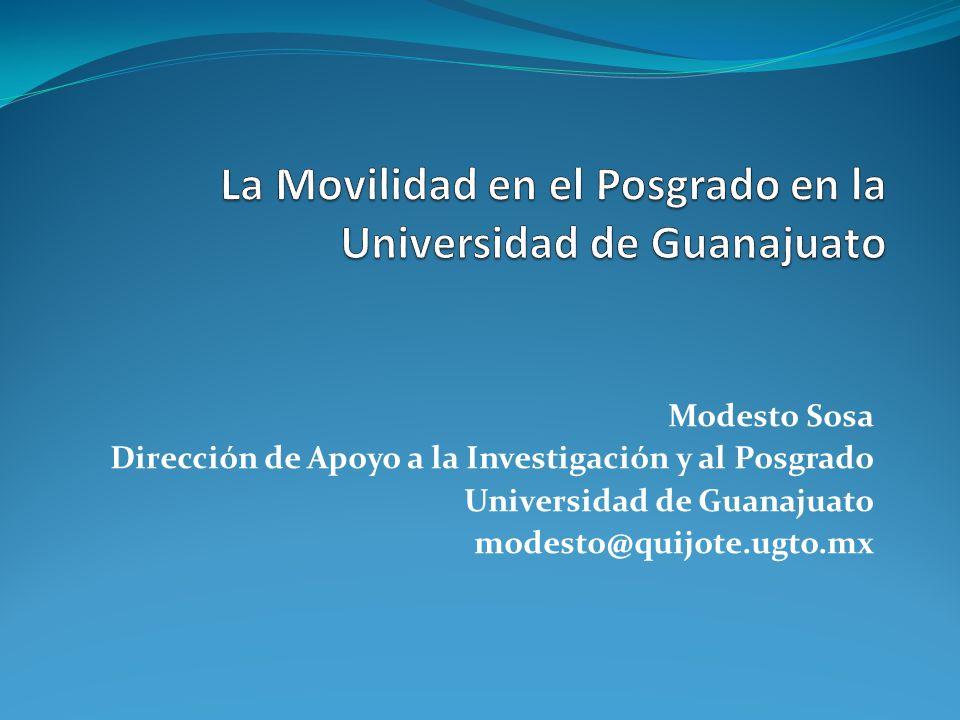 Modesto Sosa Dirección de Apoyo a la Investigación y al Posgrado Universidad de Guanajuato modesto@quijote.ugto.mx