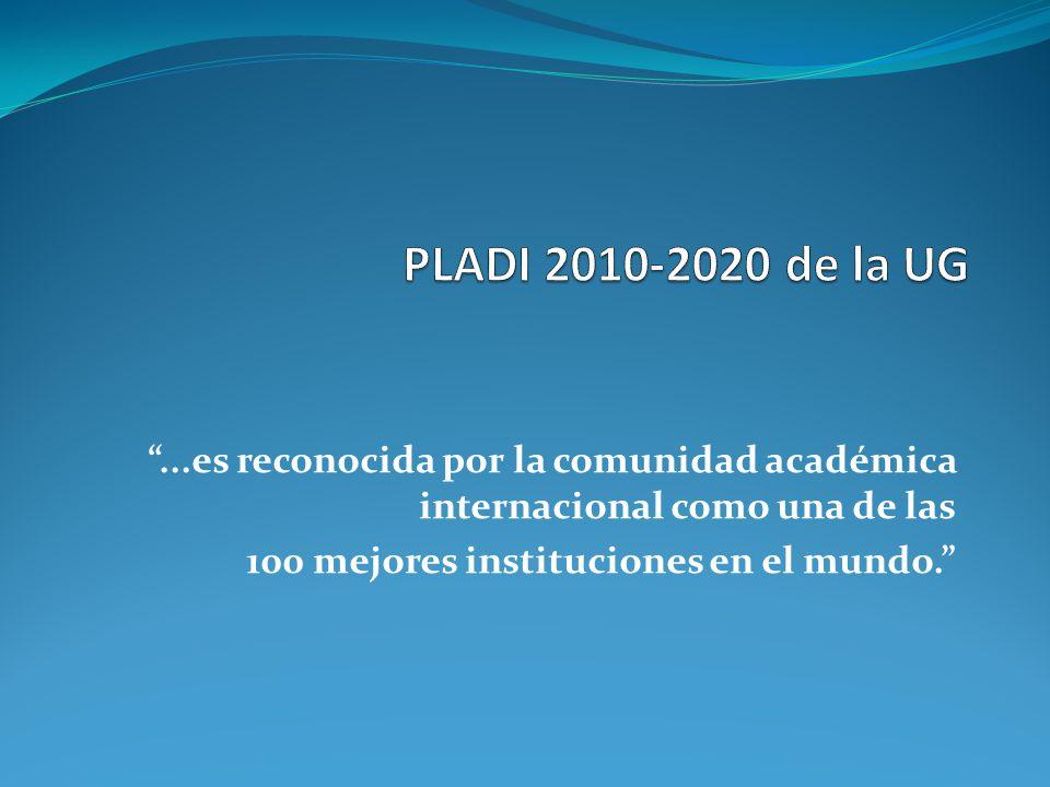 ...es reconocida por la comunidad académica internacional como una de las 100 mejores instituciones en el mundo.
