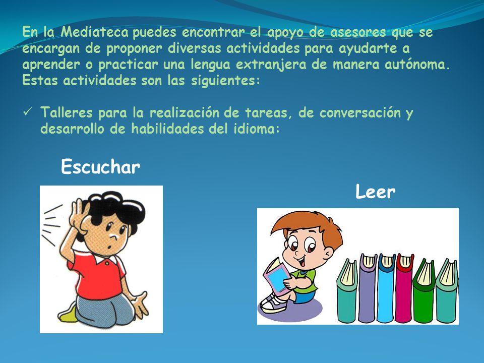 En la Mediateca puedes encontrar el apoyo de asesores que se encargan de proponer diversas actividades para ayudarte a aprender o practicar una lengua