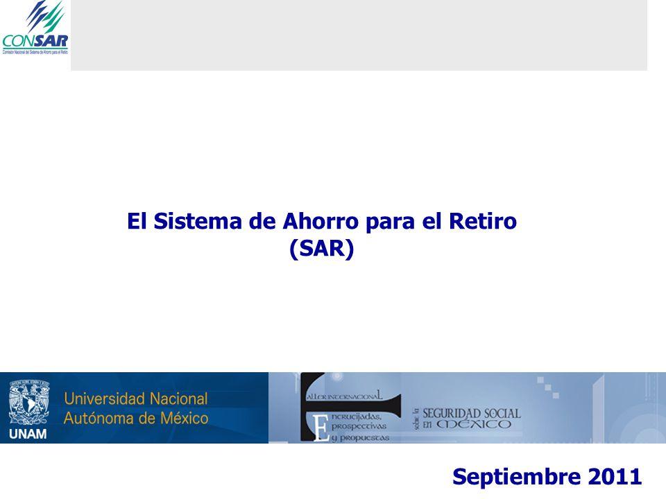 En México, el SAR ha tenido importantes logros a través de sus más de catorce años de existencia… 12 Las AFOREs administran 1,531,104 millones de pesos (11.2% del PIB), estos recursos han crecido en los últimos 10 a una tasa de 23.44% promedio anual.