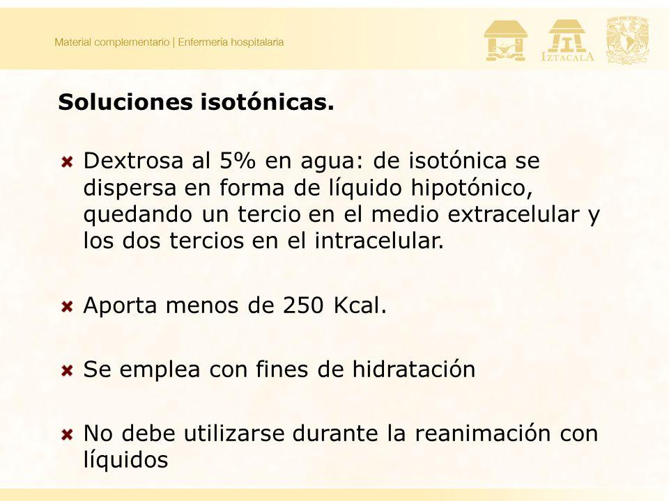 Soluciones isotónicas.