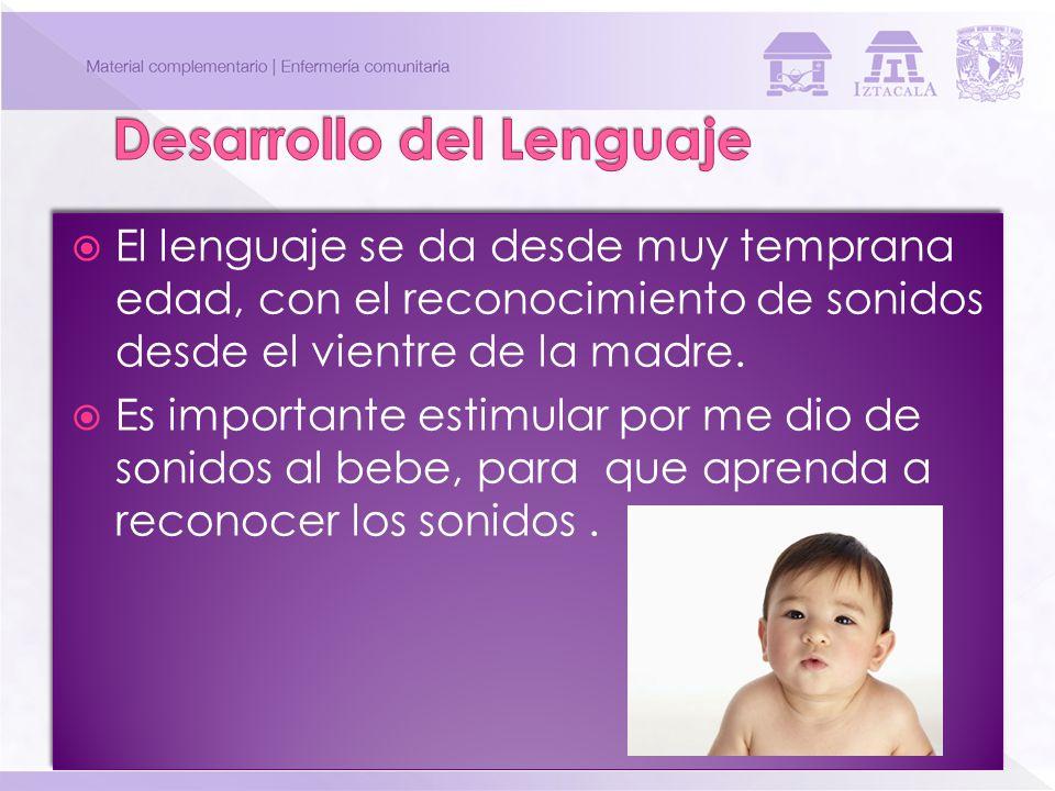 El lenguaje se da desde muy temprana edad, con el reconocimiento de sonidos desde el vientre de la madre. Es importante estimular por me dio de sonido