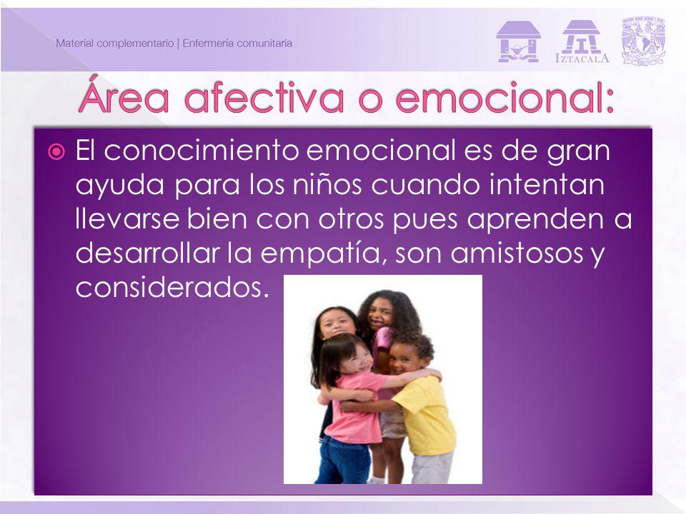 El conocimiento emocional es de gran ayuda para los niños cuando intentan llevarse bien con otros pues aprenden a desarrollar la empatía, son amistoso