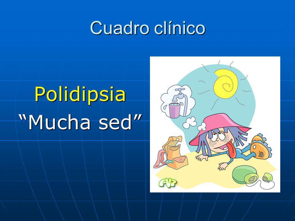 Cuadro clínico Polidipsia Mucha sed