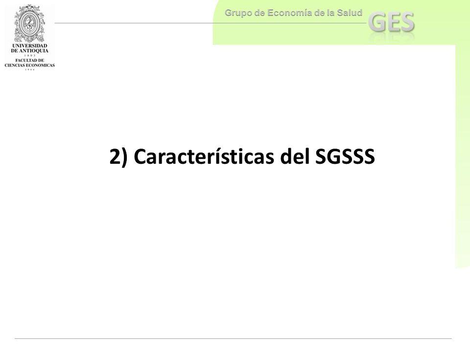 2) Características del SGSSS