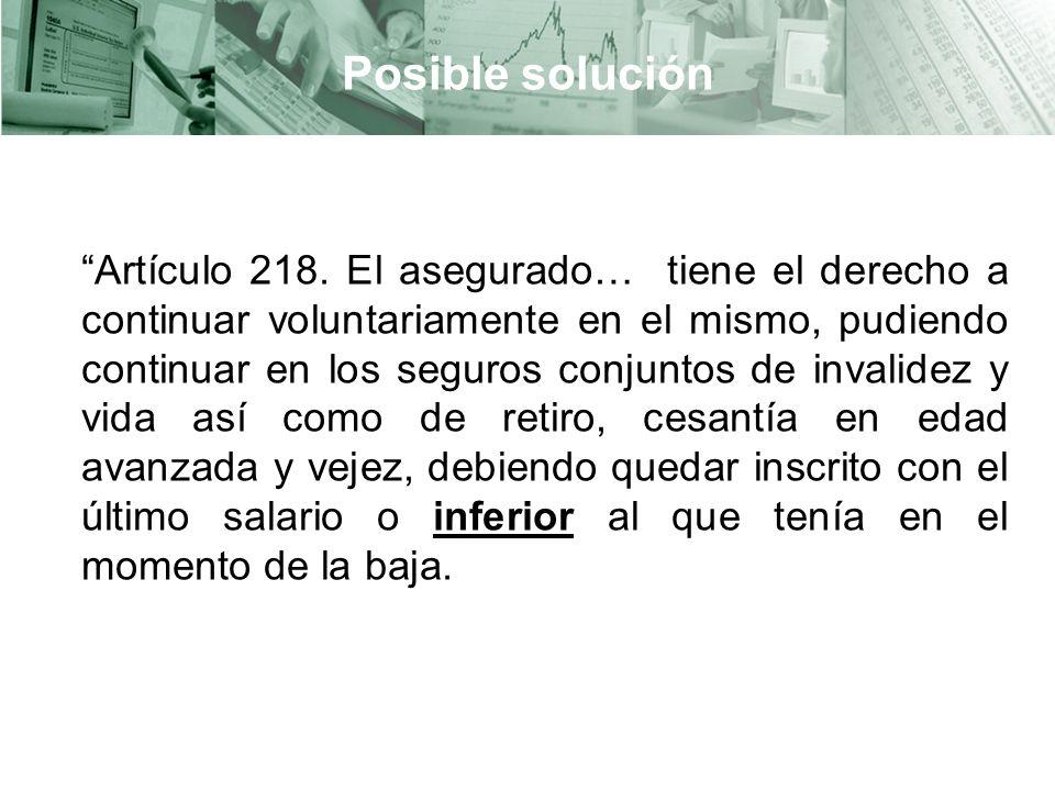 Posible solución Artículo 218.