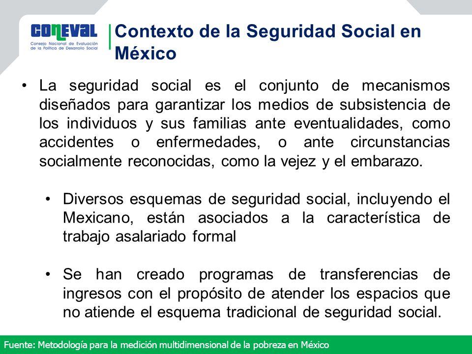 La seguridad social es el conjunto de mecanismos diseñados para garantizar los medios de subsistencia de los individuos y sus familias ante eventualid